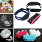 Stop Chin Strap Sleep Aid Cure Anti Snore Silicone Nose Mouth Mandibular Device