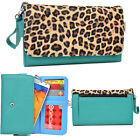 """Women's Large Metro Glam Flip for Smart Cell Phone 6.4"""" Device w/ Snap Button"""