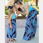 Mother and Daughter Casual Boho Floral Maxi Dress Mommy Me Matching Set Outfits