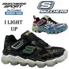SKECHERS BOYS KIDS LIGHT UP MEMORY FOAM RUNNING SCHOOL SPORT SHOES TRAINERS SIZE
