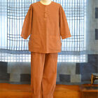 Men's Natural ocher dye clothes Red ochre dyeing clothes Men's pajamas t-shirt