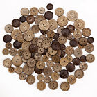 50/100pcs Mixed Pattern Nature Coconut Shell buttons Sewing scrap book