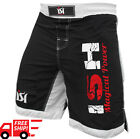 MMA kick boxing fight ufc short grappling muay Thai men's shorts wear cage black