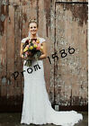 Cap Sleeves Wedding Dress Full Lace Lace Sheath Bridal Gown Size 6 8 10 12 14 +