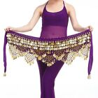 New Belly Dance Belt Velvet  320pcs Golden Coins Hip Scarf Belt 11 colors