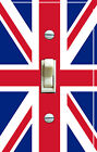 BRITISH Union Jack Flag (single/double/triple) Switch Plate***FREE SHIPPING***