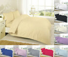 Egyptian Cotton Duvet/Quilt Cover Set With Pillowcases Super King Double Single