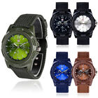 Mens Womens Solider Military Army Canvas Band Quartz Wrist Watches New Hot image