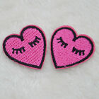 2pc Unicorn Heart Lipstick Embroidered Iron on DIY Bag Jeans T-Shirt Cap Patches