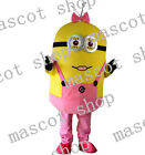 Minion Female Despicable me Hot selling adult Mascot Costume Christmas/Hallowmas