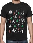 Humping Reindeer Kama Sutra Ugly Christmas Sweater Party T-Shirt Xmas