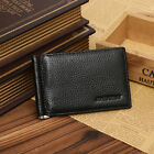 Men Genuine Leather Wallet with Money Clip Bifold Black Purse #G Male Practical