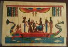 """EGYPTIAN hand painted Papyrus Paper 7.60""""x 11.25"""""""