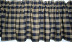 Black Buffalo Check Homespun Valances Tiers Primitive French Country Curtains