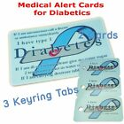 Diabetic Alert Card | Type 1 | Custom with Name and Address | Emergency Contact.
