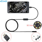 Android Endoscope USB Waterproof Borescope Inspection camera 8.5 mm 6 LEDs
