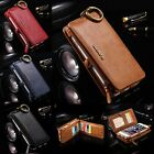 For iPhone 7 Plus & 6 5S Leather Removable Wallet Magnetic Flip Card Case Cover
