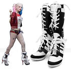HOT Batman DC Comic Suicide Squad Harley Quinn Cosplay Shoes Boots High Quality