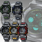 OHSEN Teen 40mm Case Military Digital Analog Sport Quartz Watch Date/Day Alarm
