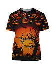 Halloween Trick or Treat Men's T Shirt Short Sleeve Crew Neck Fitted