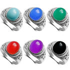 New Women Lady Multicolor Carving Crystal Ring Party Jewelry US Size 6/7/8/9