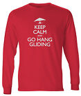 Men's Keep Calm And Go Hang Gliding Long Sleeve T-Shirt Paraglide Glider FREE SH