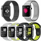 Stainless Steel Link Bracelet Metal Band Sport Strap For Apple Watch Series 2&1