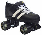 New! Black & White Riedell Volt Quad Skates - Roller Derby Speed Skates
