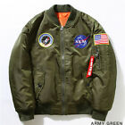 NASA Uomini bomber Ma1 Mens Bomber Air Force baseball militari sottili Giacche