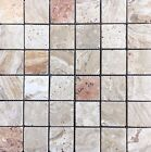 Scabos 2 X 2 Tumbled Travertine Mosaic Tile