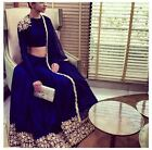 Bollywood Inspired : Wedding Wear Navy Blue Raw Silk Lehenga Choli - 9115-C