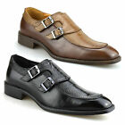 Mens New Casual Smart Monk Strap Designer Work Office Party Loafers Shoes Size