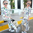 New Kids Girls Sport Suit High Quality Zipper Hoodie Casual 2 Pieces Coat+Pants