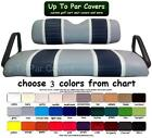 E-Z-Go ClubCar Yamaha Deluxe 2-Stripe Custom Golf Cart Seat Cover -Set Staple On