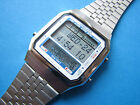 NEW RARE Vintage 1985 NOS SEIKO D409 Sign Table LCD Digital Data Bank watch ██