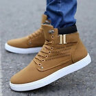 Fashion Men's Oxfords Casual High Top Shoes Leather Shoes Canvas Sneakers New