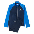 adidas Entry Closed Hem Kids Boys Sports Tracksuit Set Blue