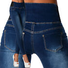 Sexy New Women's Stretchy Blue / Black Jeans Trousers High Waisted Skinny I 532