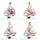 10mm Pretty Natural 4 Color Freshwater Pearl Fashion Pendants Free Send Chain