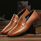 New Men's Shoes Genuine Cow Leather Loafers Slip-On Classic Business Casual 5-11