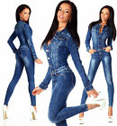Sexy New Women's Denim Jeans Wash Playsuit Jumpsuit Overall Skinny Slim H 755