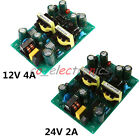12V 4A/24V 2A 48W Dual Switch Power Supply Module w/ Overload Circuit Protection