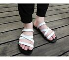 3 Color US Size 5-11 New Ring Toe Leather Mens Casual Beach Flip Flops Shoes