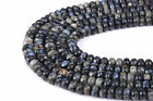 Grey Opal Faceted Rondelle Gemstone Loose Beads 15.5'' Long. Size 4x6mm/5x8mm