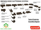 Brown Ogee Guttering 128mm x 88mm Conservatory Rainwater System UPVC Eurocell