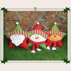 Colorful Five-pointed Star Xmas Throw Pillow Santa Clause Snowman Reindeer S5M4