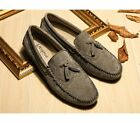 4 Color US Size 5-11 New Tassel Suede Leather Mens Driving Moccasin Loafer Shoes