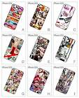Fashion French Collage Lips Design Hard Back Cover Case for iPhone 5 5S