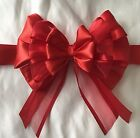 """Large 7"""" Satin/Organza Luxury Ribbon bow with tails gifts,xmas"""