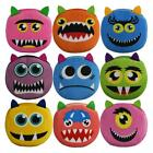 "CUTE MONSTER FACE COIN PURSE 4"" Plush Fabric Small Change Wallet Bag Zipper Case"